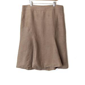 Carolina Herrera Flared Linen Midi Length Skirt